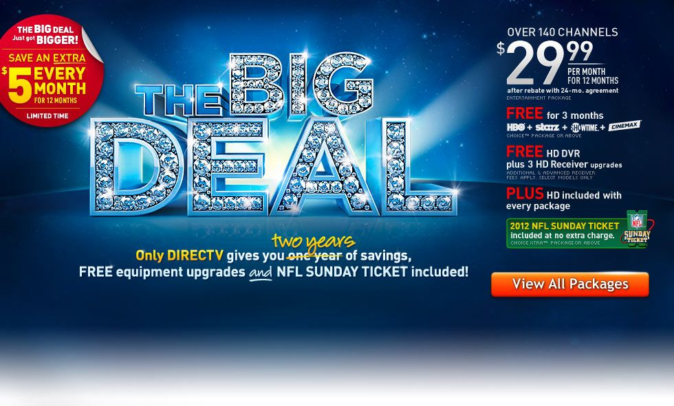 DIRECTV Deals Best Offers & Official Deals from DIRECTV