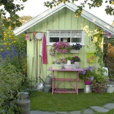 Garden Sheds Ideas garden sheds theyve never looked so good hgtv Home Dzine A Garden Shed Hut Or Wendy House Becomes A Beautiful And