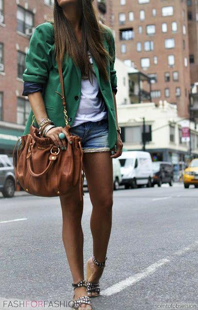 : green blazer