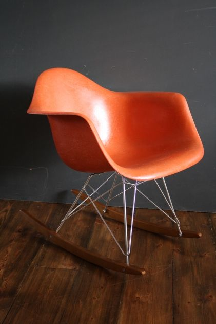 Eames Herman Miller RAR rocking chair in orange | Rocking chairs ...