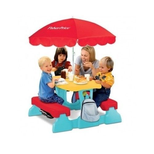 Fisher price picnic table lunch n munch with umbrella kids children fisher price picnic table lunch n munch with umbrella kids children bench fisherprice watchthetrailerfo