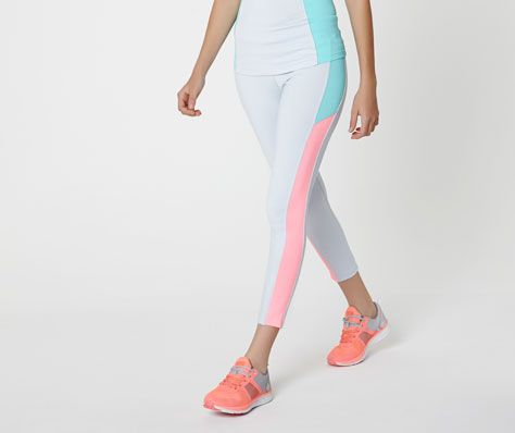 Coloured mid-calf leggings seam detail - OYSHO