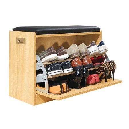 Home in 2019 Diy storage ottoman bench, Wooden shoe