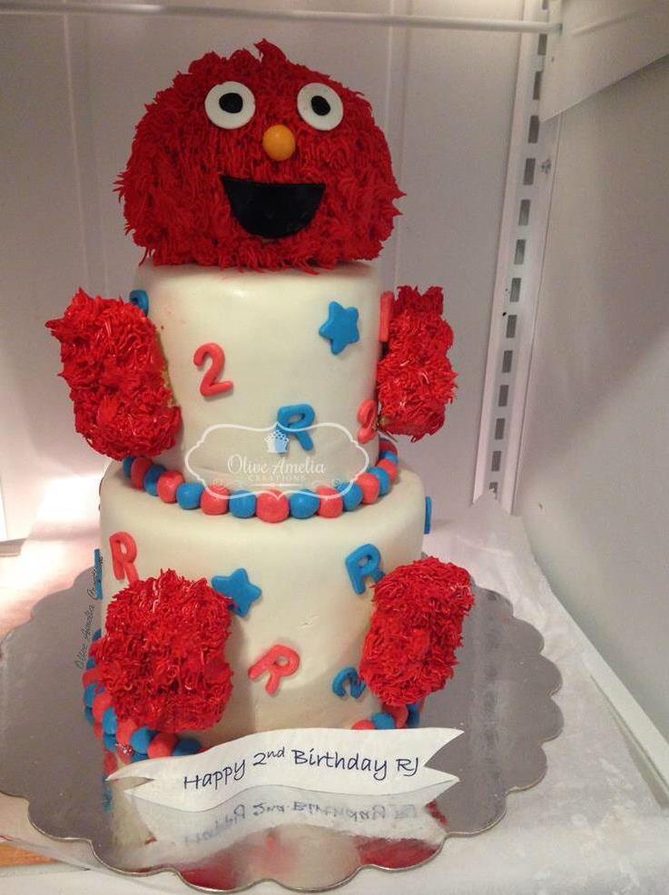 Elmo Birthday Cake By Olive Amelia Creations NYC Cupcakes Sesame SesameStreet Monster Bakery Kids BirthdayParty