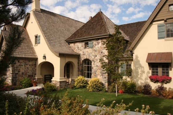 Love the old world style two finishes dream home - Country style exterior house colors ...