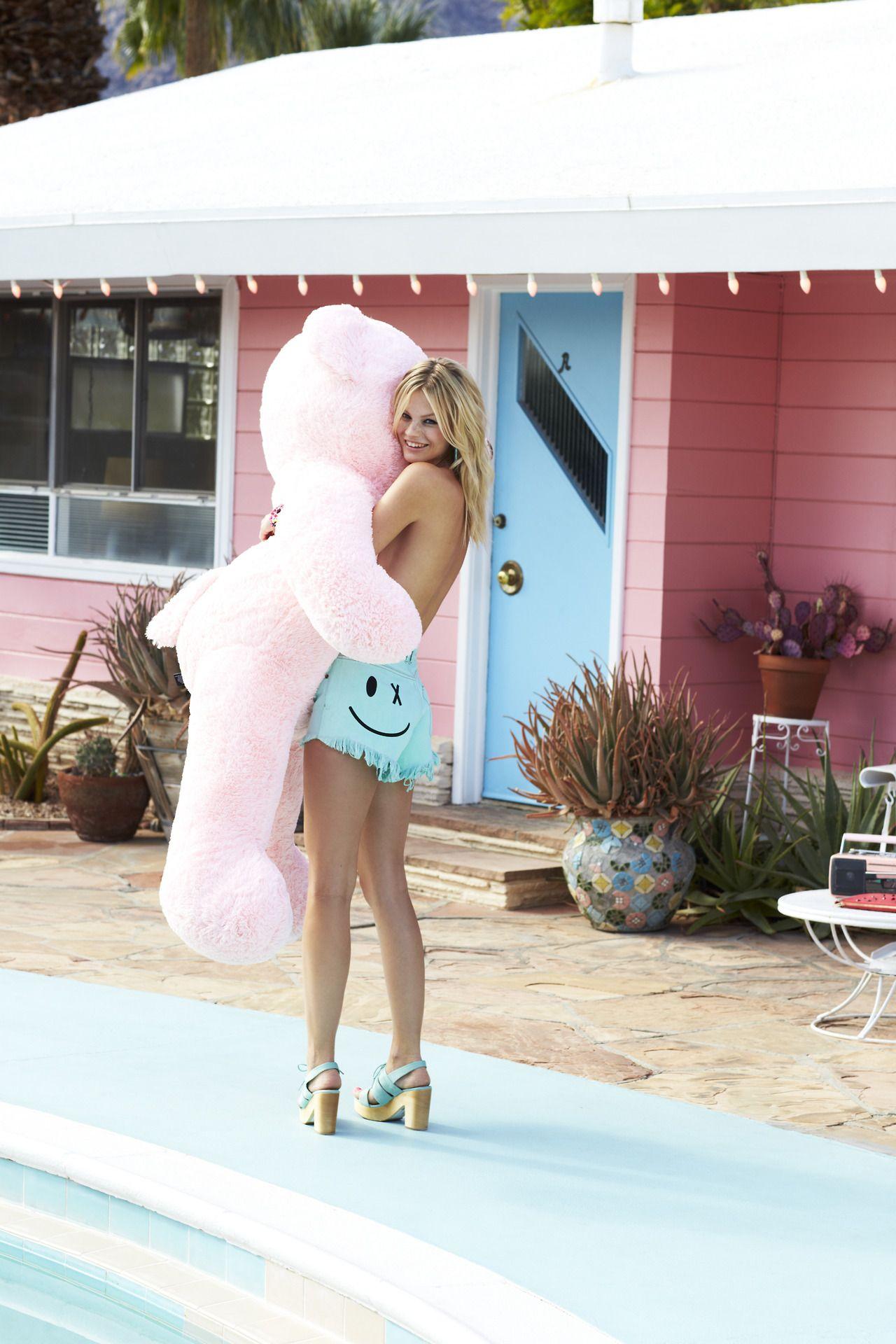 With A Large Stuffed Animal  Teddy Girl, Festival -4449