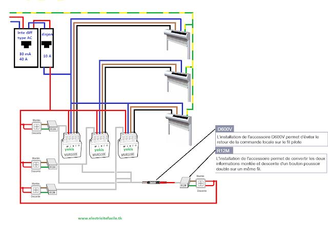 Centralisation Plusieurs Volets Et Micromodules Avec Plusieurs Boutons Schema Electrique Interrupteur Connecte Electrique