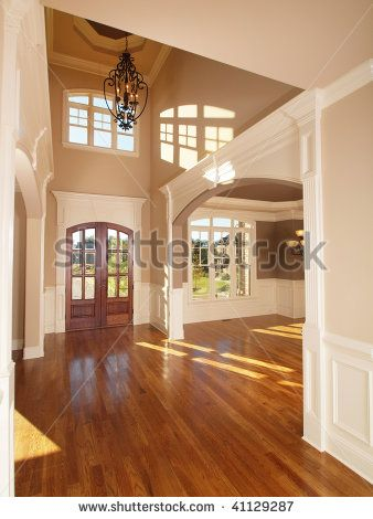 Model luxury home interior front entrance arch way stock photo also rh in pinterest