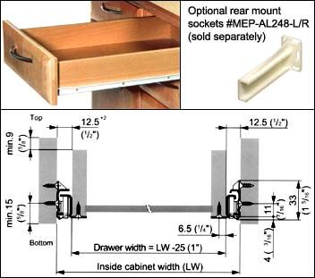 Image Of Product Gra 1702 500 11 Drawer Slides Diy Storage Projects Drawers