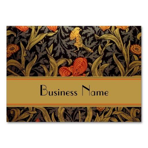 Profile Card Vintage Print William Morris Business Card