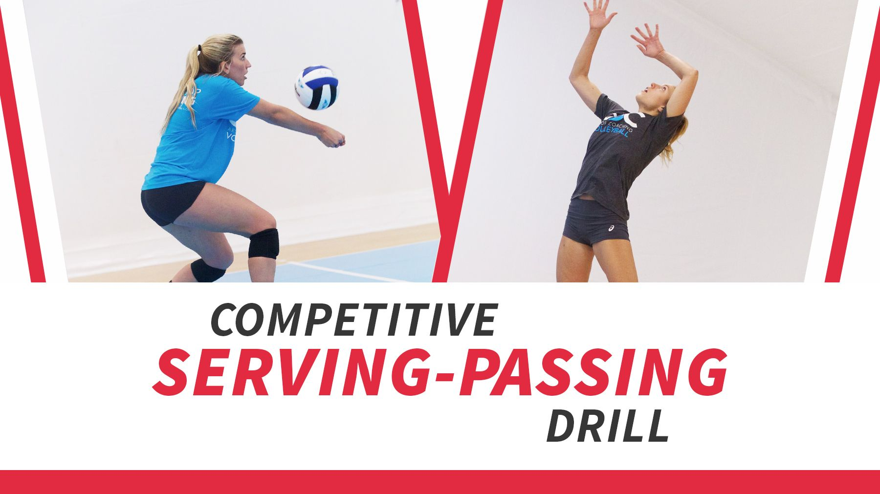 Competitive Serving Passing Drill Coaching Volleyball Passing Drills Volleyball Training