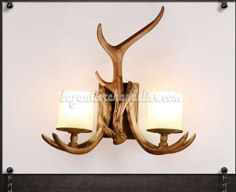 lamp light candle sconces lights diagonal sconce antler wall decor up