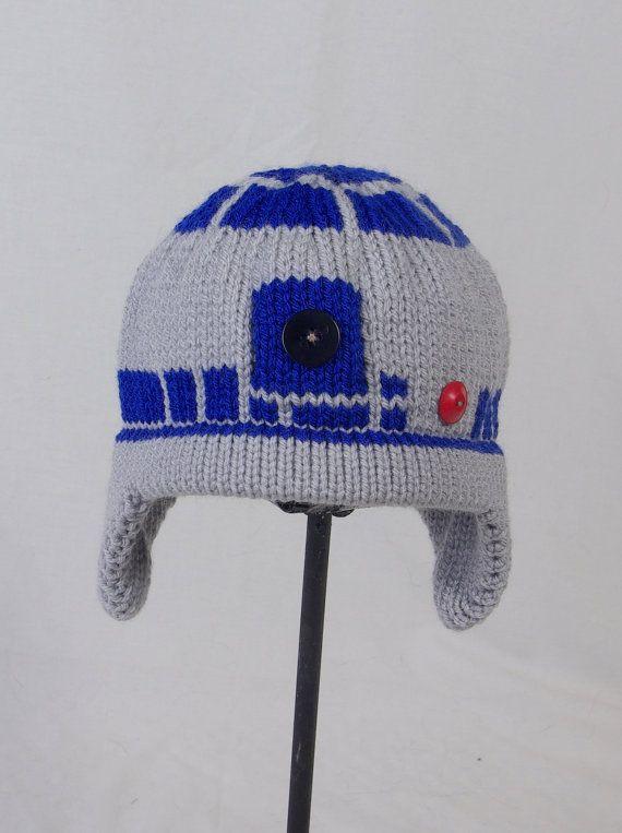 Custom Knit R2D2 Hat by AllStringsbyAmy on Etsy c375dcb8381
