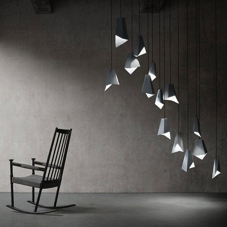Origami Möbel und Leuchten von der Kunst des Papierfaltens
