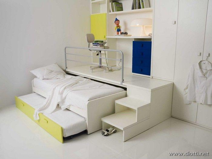 camerette letto sopra e armadio sotto | Divani in coppia: perchè ...