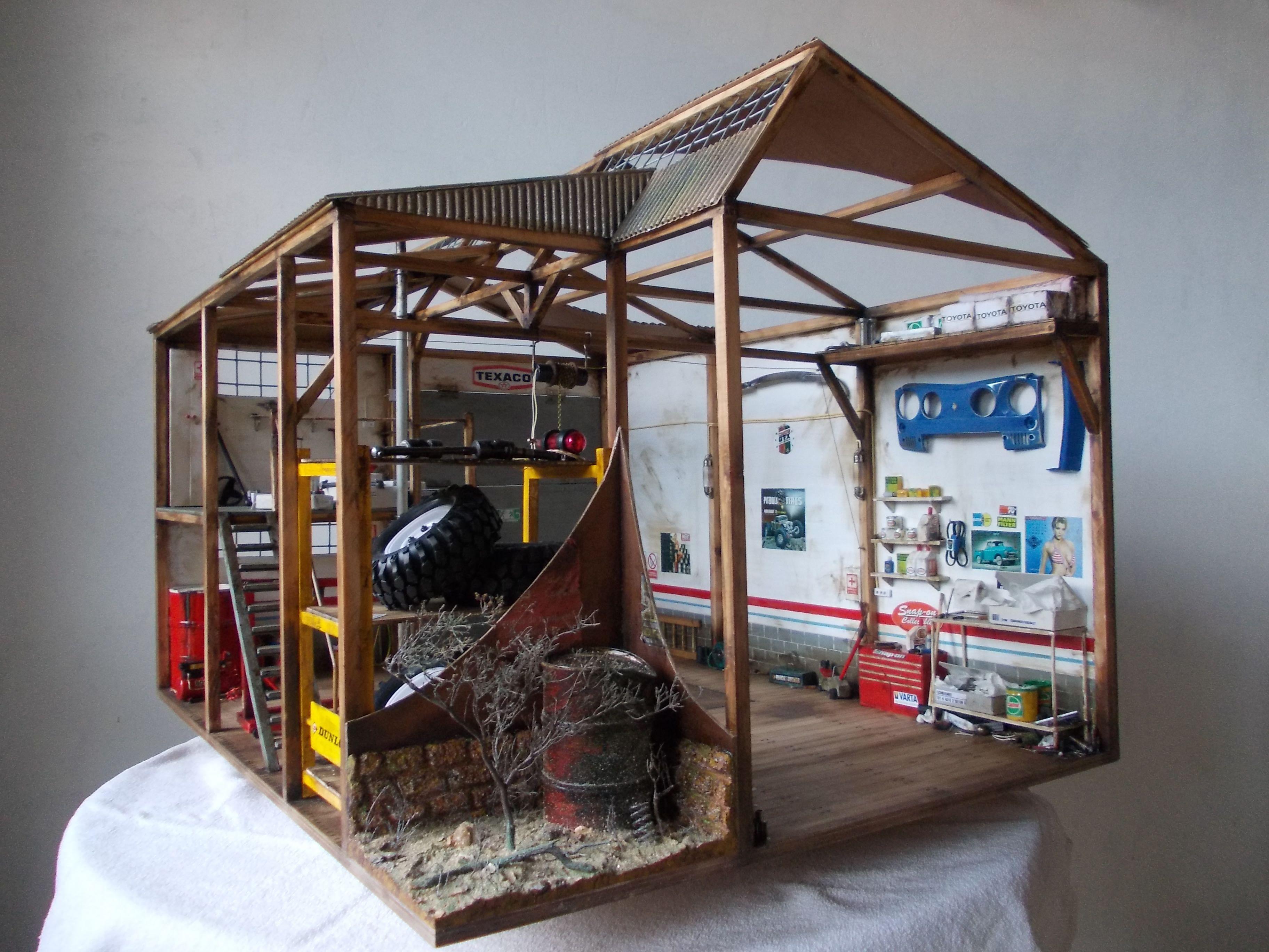 Pin de pedro lozano en diorama garaje taller coches rc - Garaje de coches ...