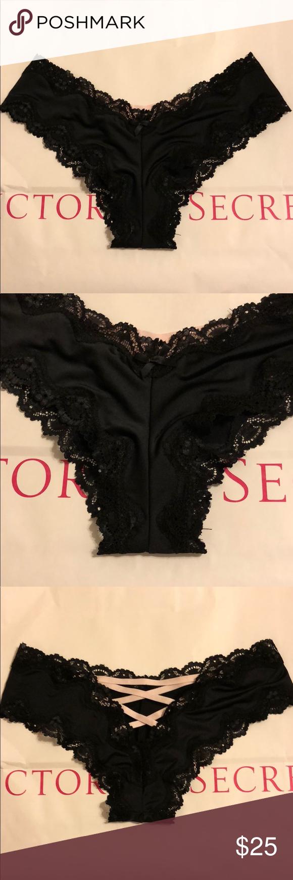 29c2e691540 Victoria s Secret Lace Open Back Panties Size S NWT Victoria s Secret Lace  Open Back Panties Size