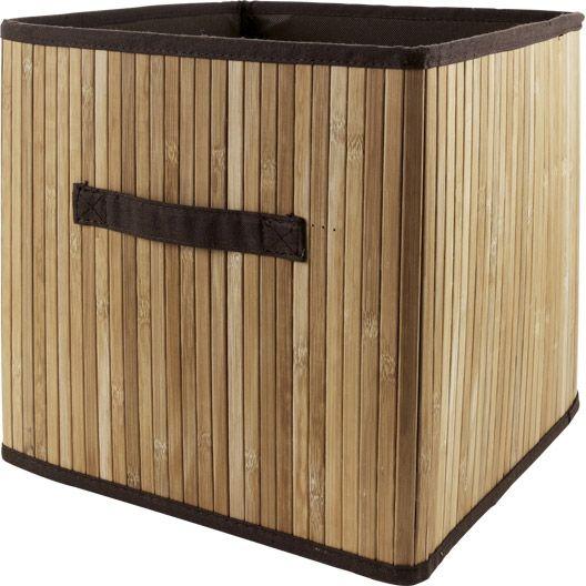 Panier De Rangement Bambou Multikaz Naturel L32xh32xp32 Cm Rangement Dressing Chambre Meuble Amenagement Panier Rangement Rangement Sous Vide Rangement