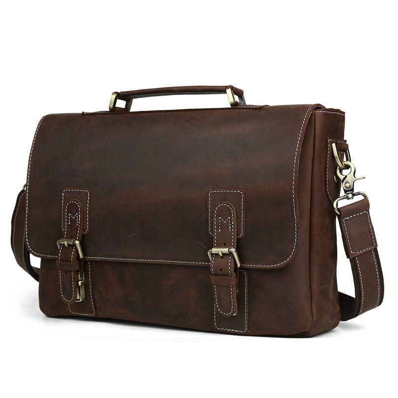 Aolen 2017 Men Messenger Bags Hot Genuine Leather Bag Men ...