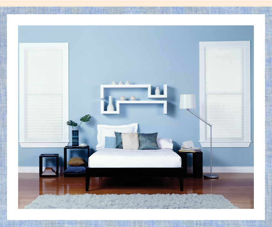 Denim blue can give a cool finish to a space behrpaint - Paint finish for bedroom ...