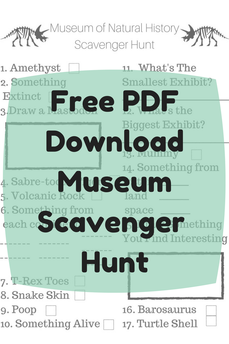 Day Adventure Guide: Museum Scavenger Hunt (Free PDF Download ...