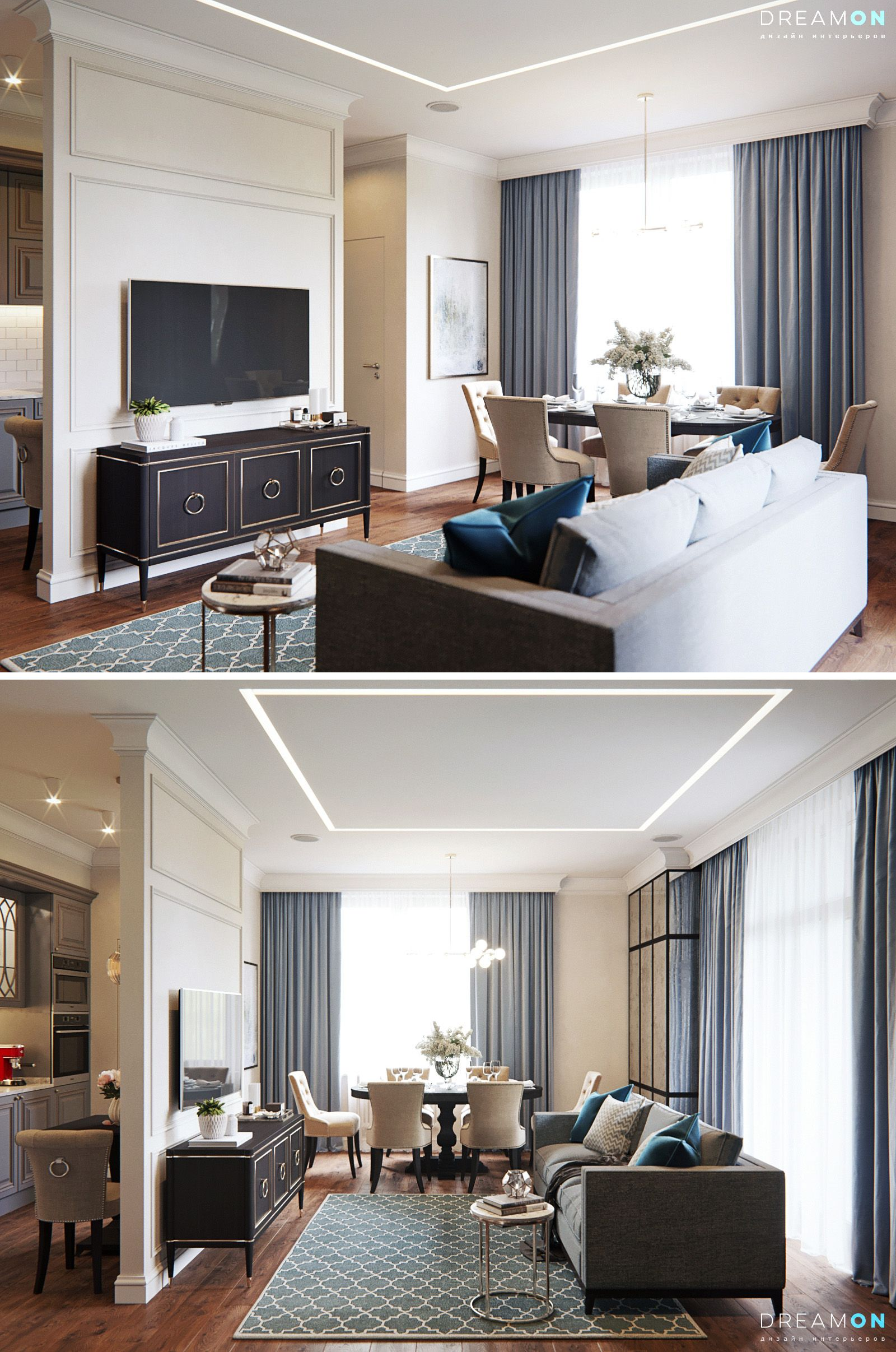 Livingroom + Kitchen - Галерея 3ddd.ru | Living room | Pinterest ...