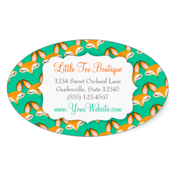 Customize this fun sticker with your personal or business info for perfectly personalized labels great for gift bags at your party jar labels