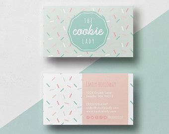 Business Card Bakery Etsy Bakery Business Cards Cute Business Cards Diy Business Cards