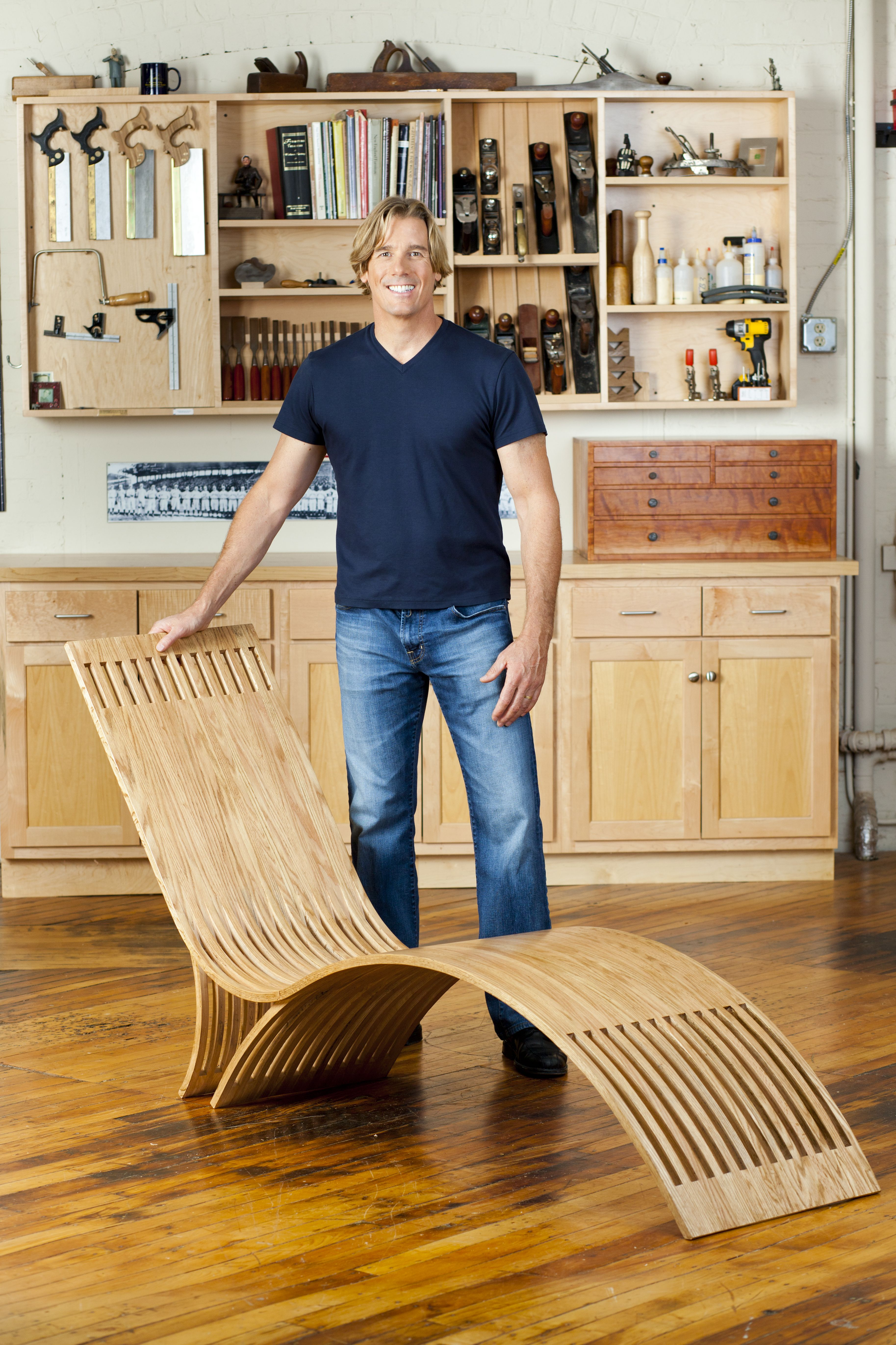Steam bent lounge chair thomas j macdonald