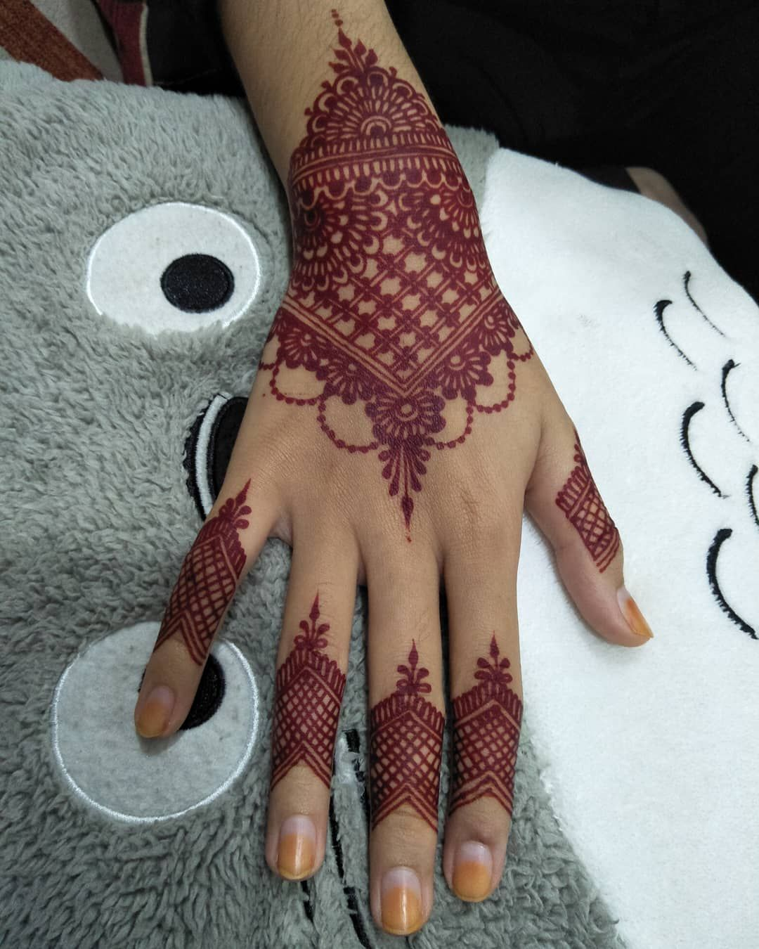 Henna Kaki Pengantin Simple