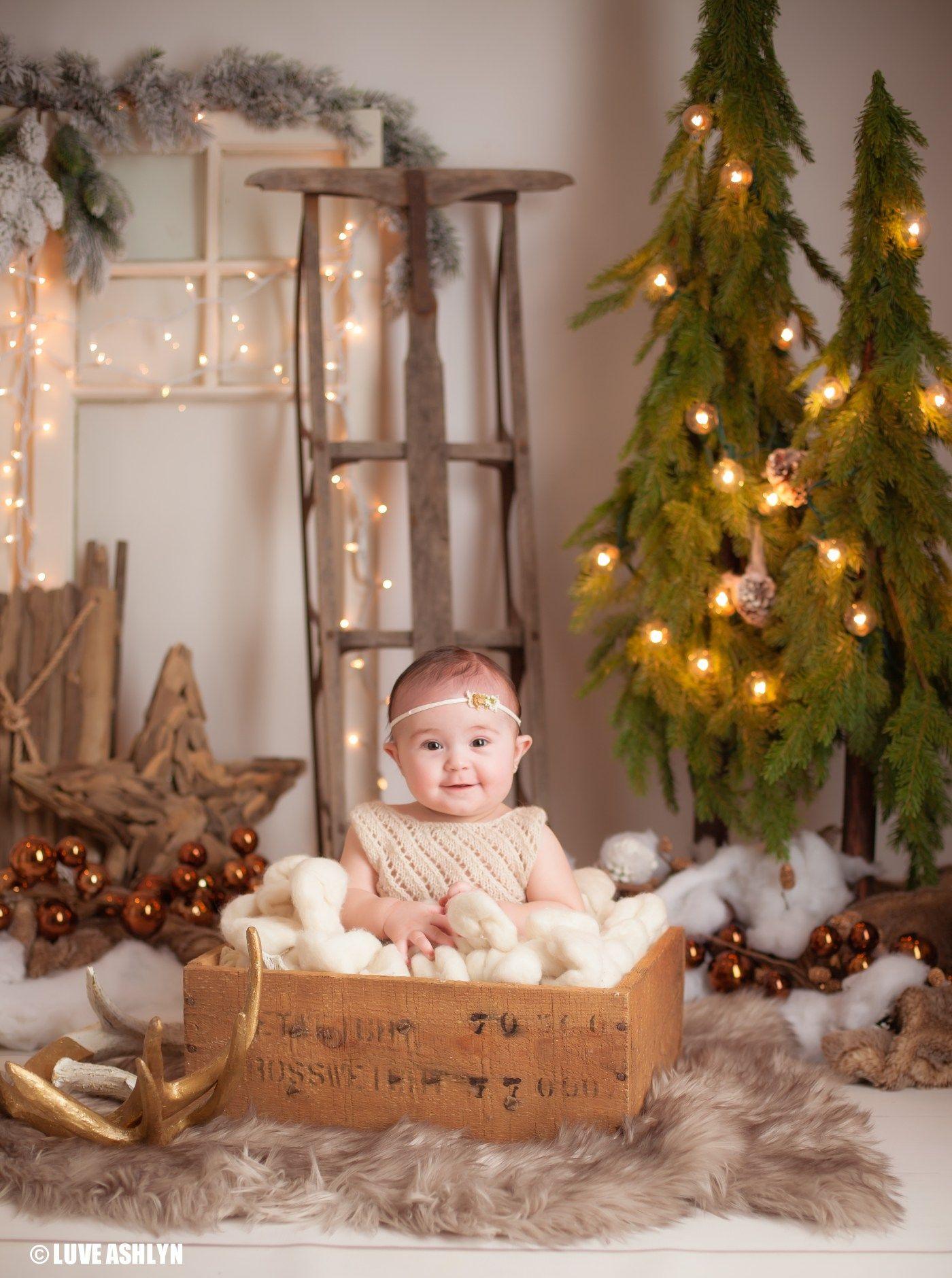Christmas Picture Backdrop Ideas Studio Christmas Baby Photography Set Up Luveashlynca