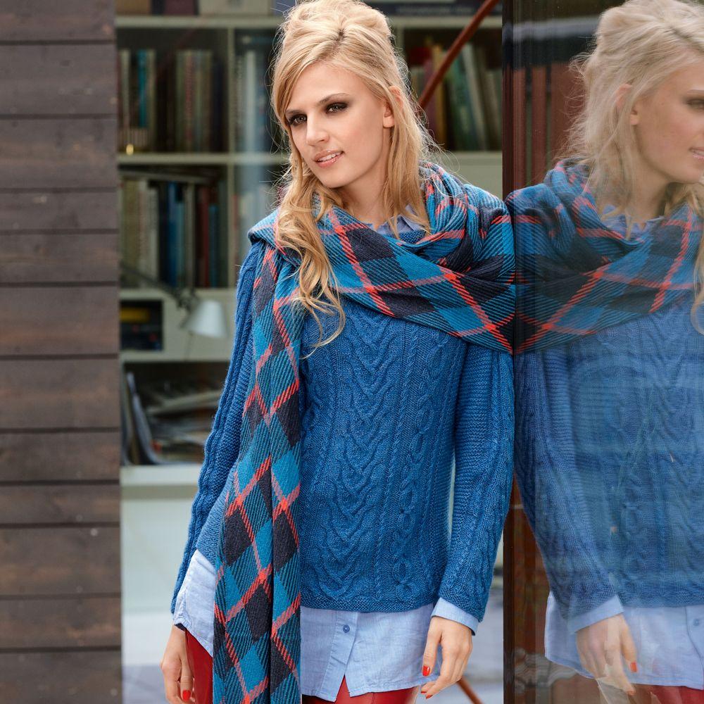 схема вязки пуловеров джемперов расклешенные