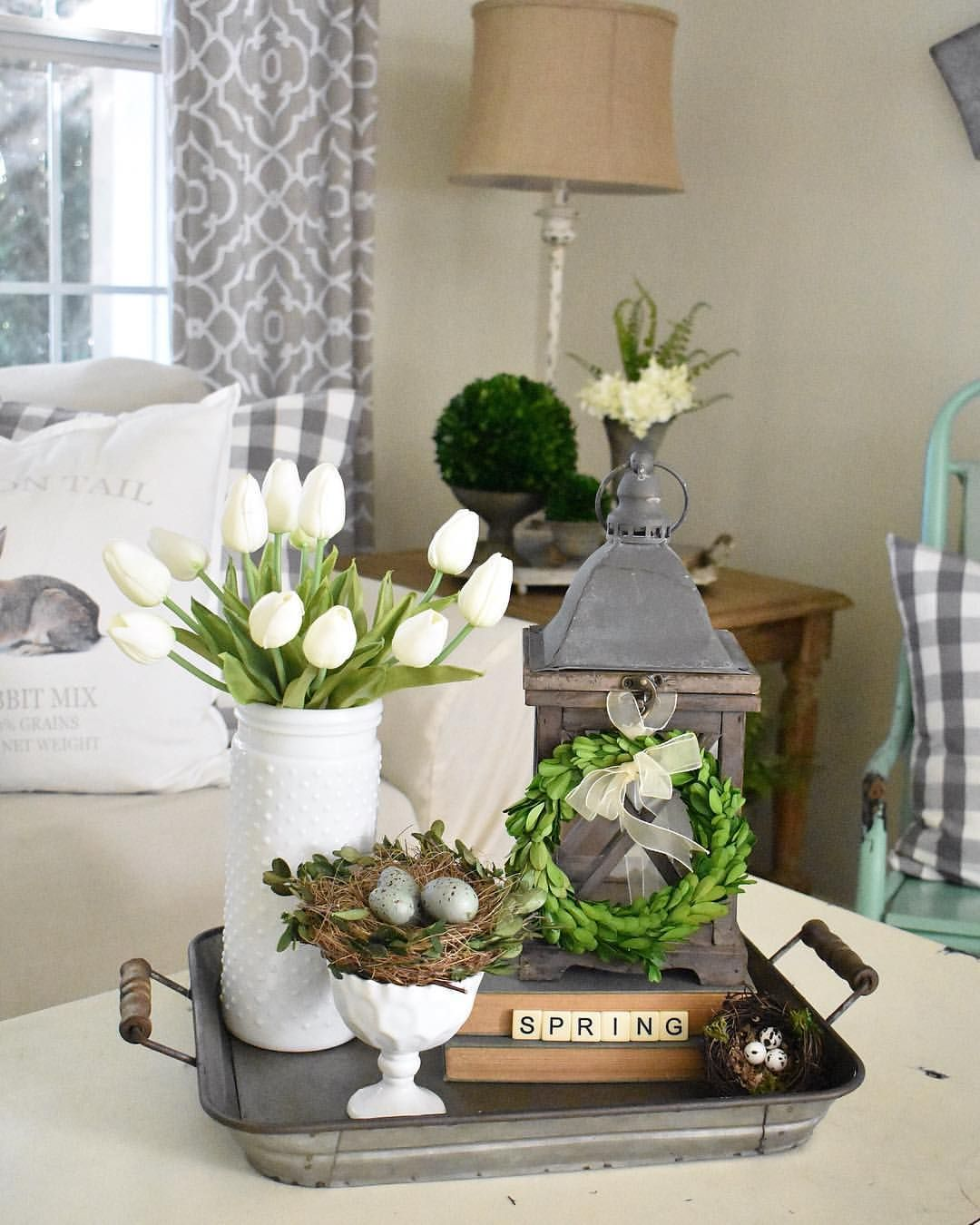18 Spring Decor Ideas: Happy Sunday Y'all! Spring Is Right Around The Corner, And