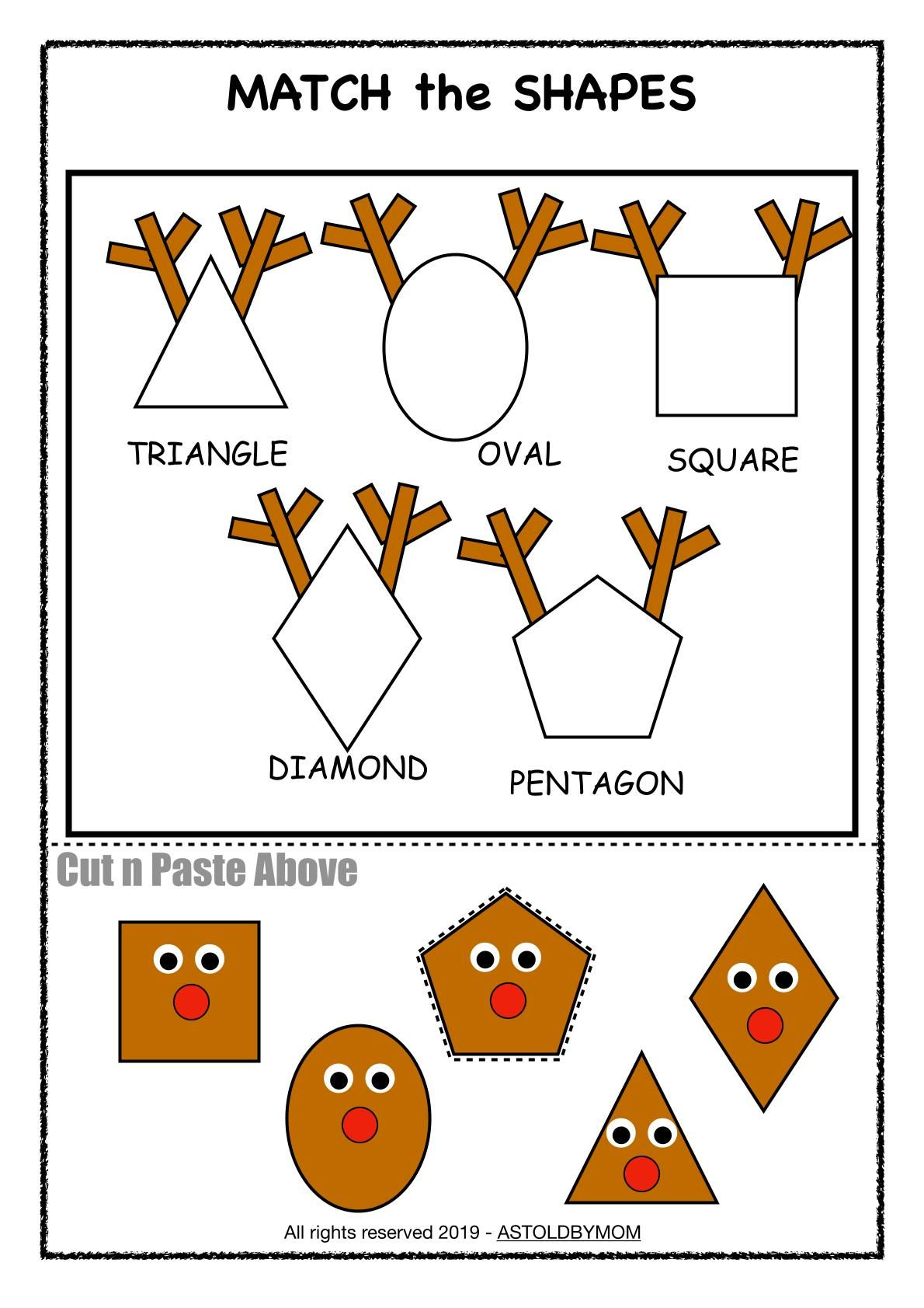 Reindeer Shape Sorting Activity - As Told By Mom