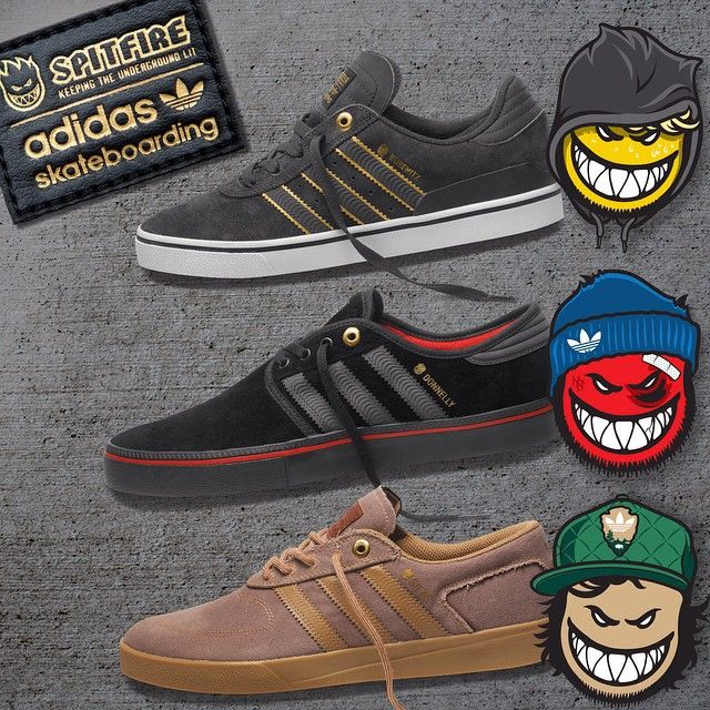 wholesale dealer 35a64 70ad5 adidas Skateboarding x Spitfire (limited-edition custom versions of the  Silas ADV, Busenitz Vulc, and a Jake Donnelly Seeley ADV).