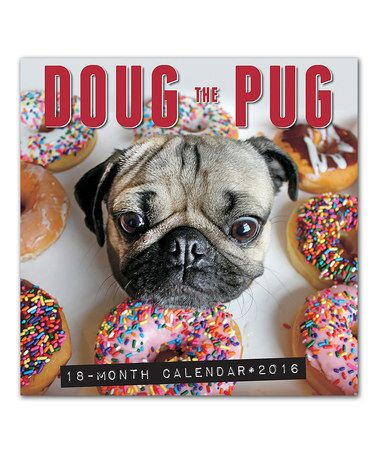Doug The Pug July 2015 Dec 2016 Wall Calendar Doug The Pug Dug The Pug Pugs