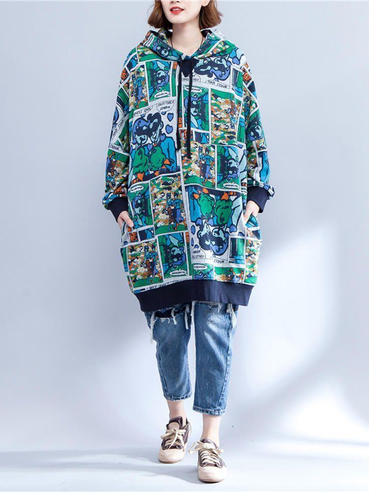 Plus Size Women Cartoon Pattern Long Sleeve Hooded Dress #Pattern #Long #Dress #... -  Plus Size Women Cartoon Pattern Long Sleeve Hooded Dress #Pattern #Long #Dress #Hooded #Cartoon #Si - #cartoon #dress #gorgeouswomen #Hooded #indianwomen #long #pattern #size #sleeve #women #womencartoon #womencave #womenoutfits #womenphotoshoot #womensketch #womenvintage