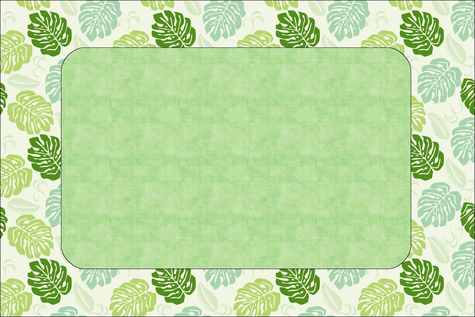 Jungle Leaf Printable Party Kit