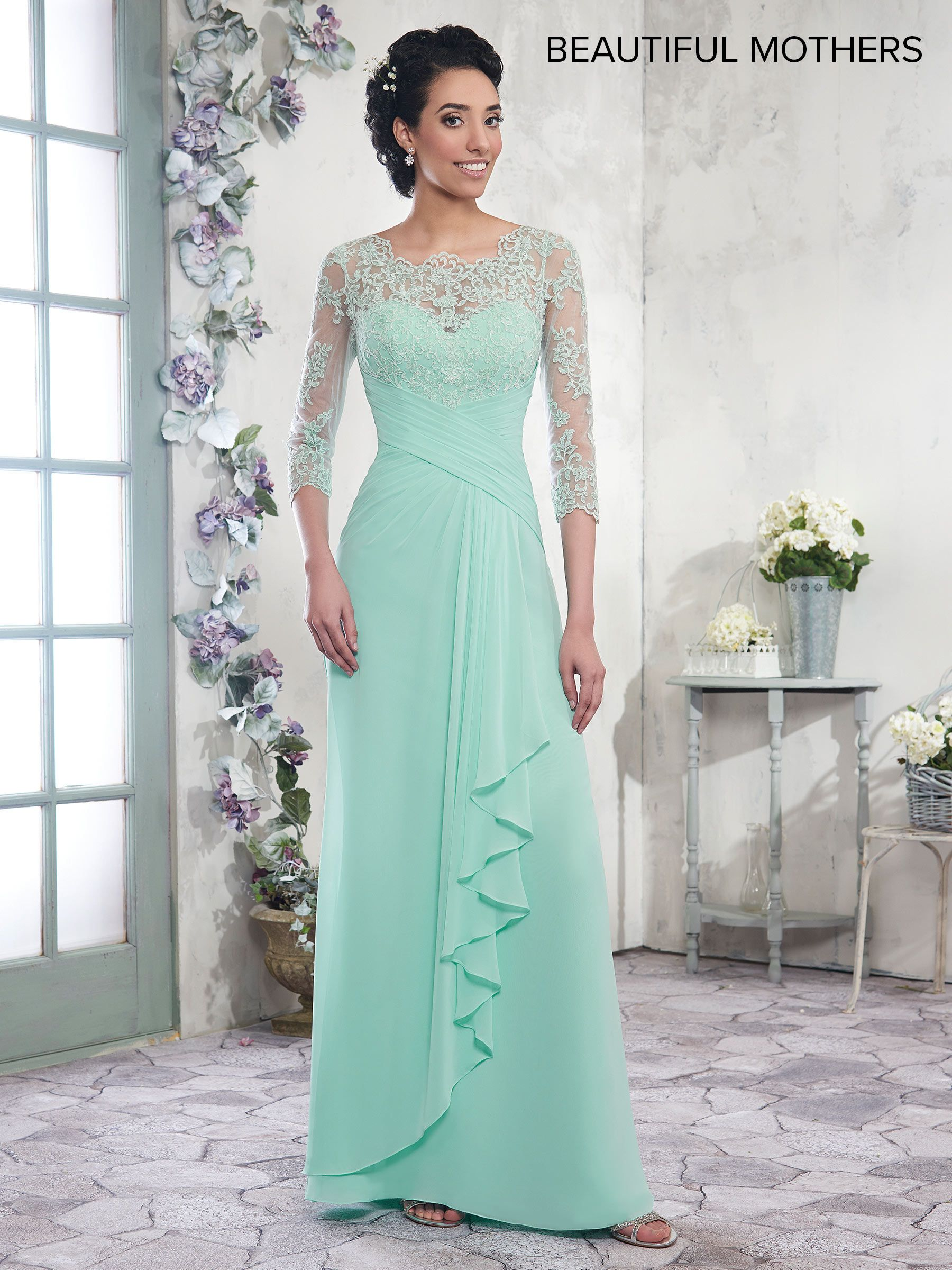 Mary\'s MB8003 // Special Order Only! Chiffon A-line mother-of-the ...
