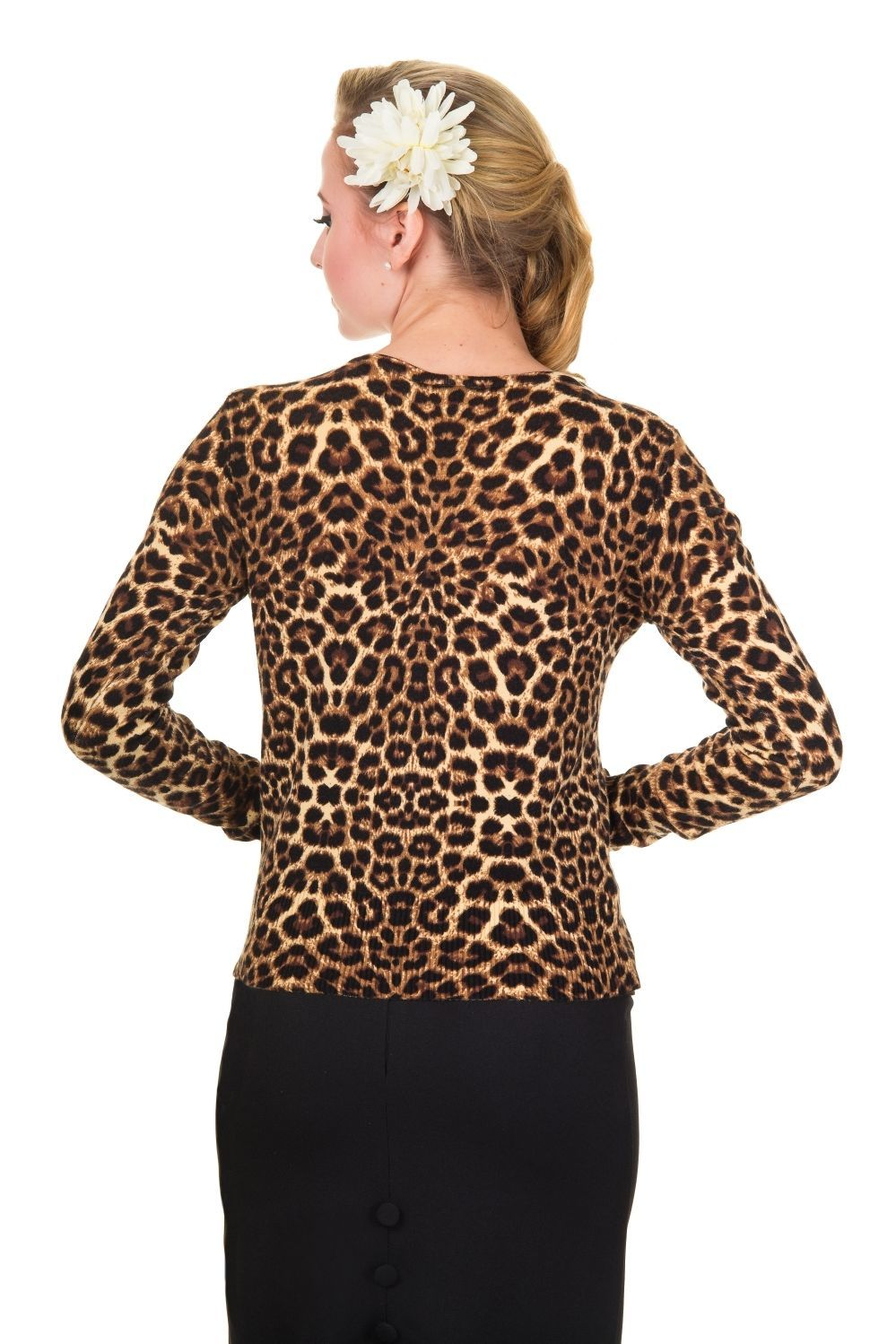 Leo Cardigan by Banned Rockabilly 50s Animal Print Leopard Top 8 ...