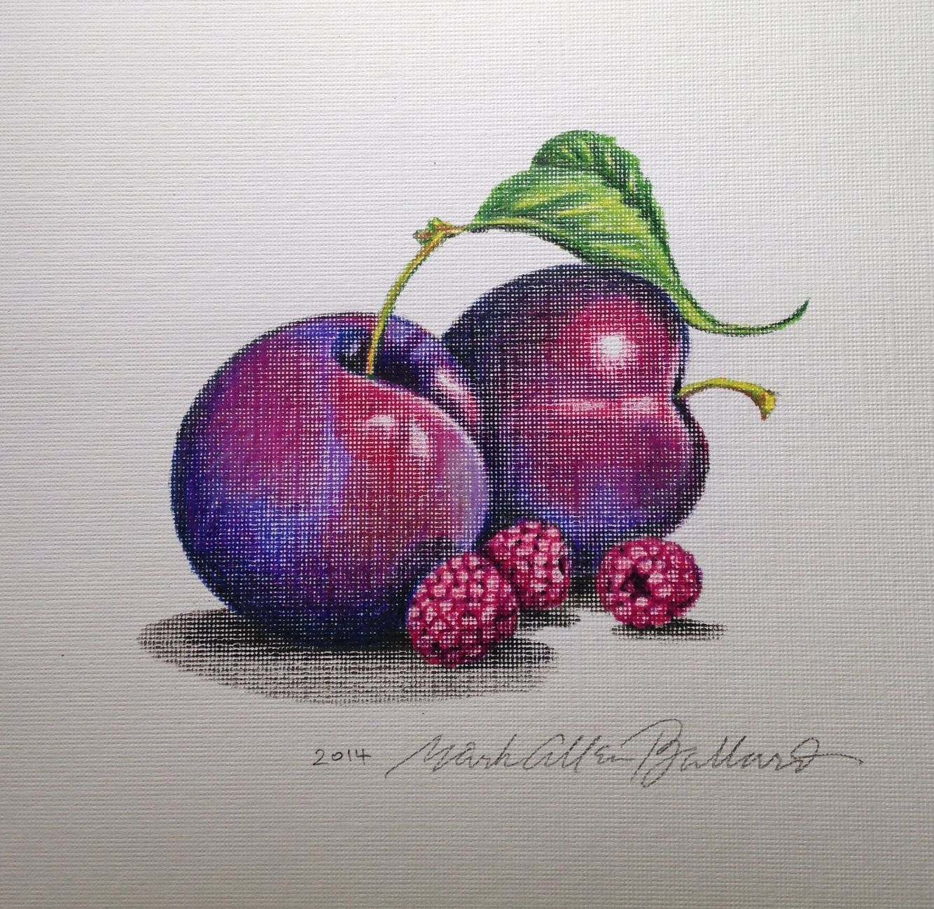 Plums and Raspberries