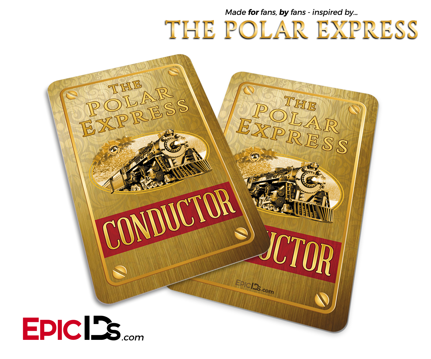 The Polar Express Inspired Train Conductor Id Card Polar Express Polar Express Theme Polar Express Party