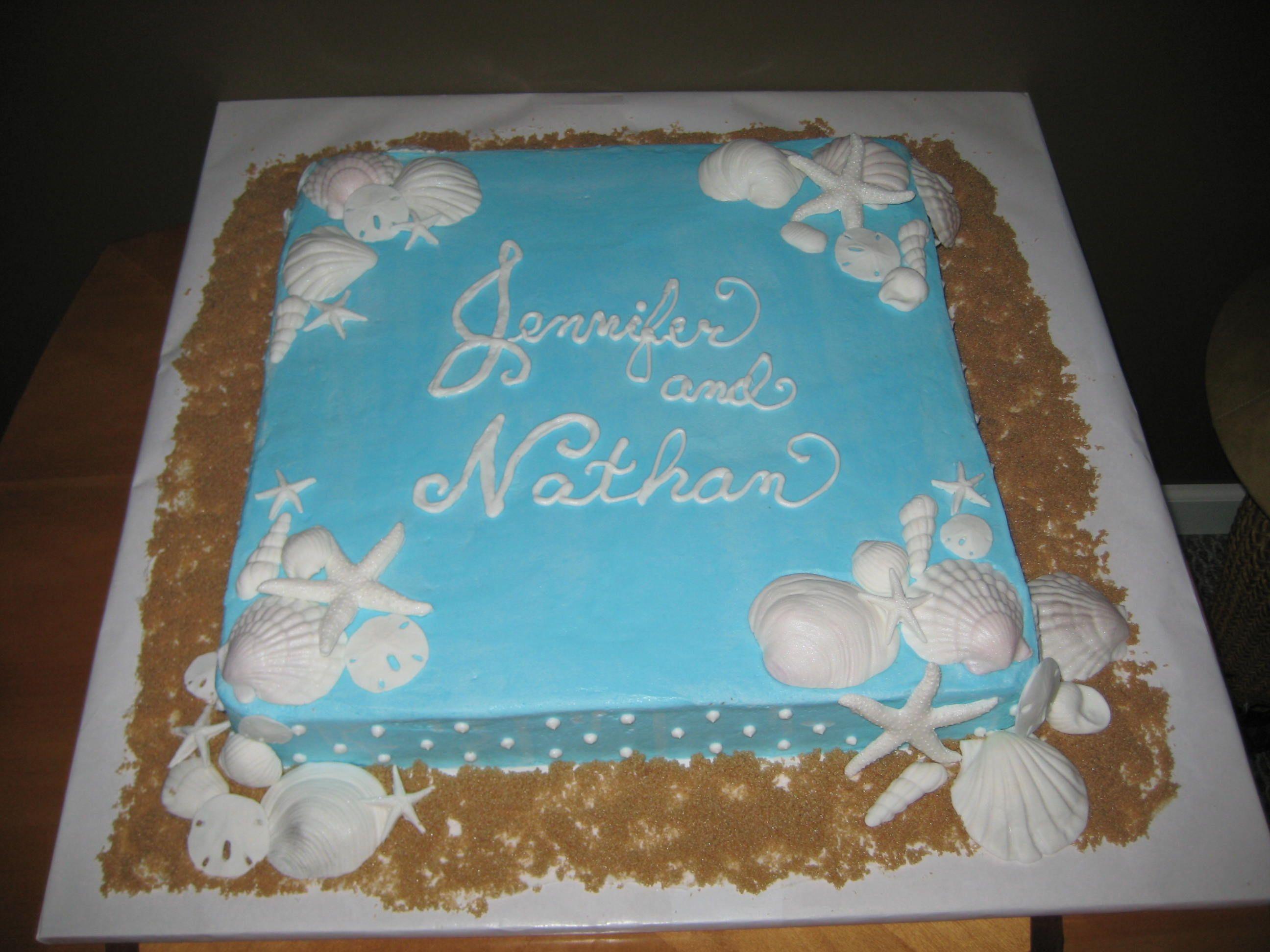 Wedding shower cake beach theme