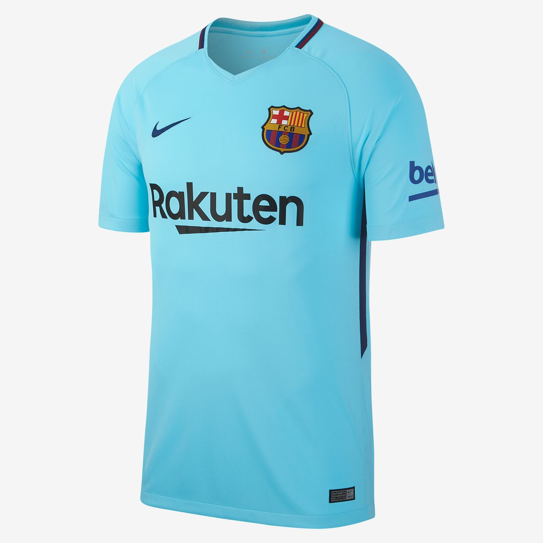 2017 18 FC Barcelona Stadium Away Men s Soccer Jersey  348a1a0a948