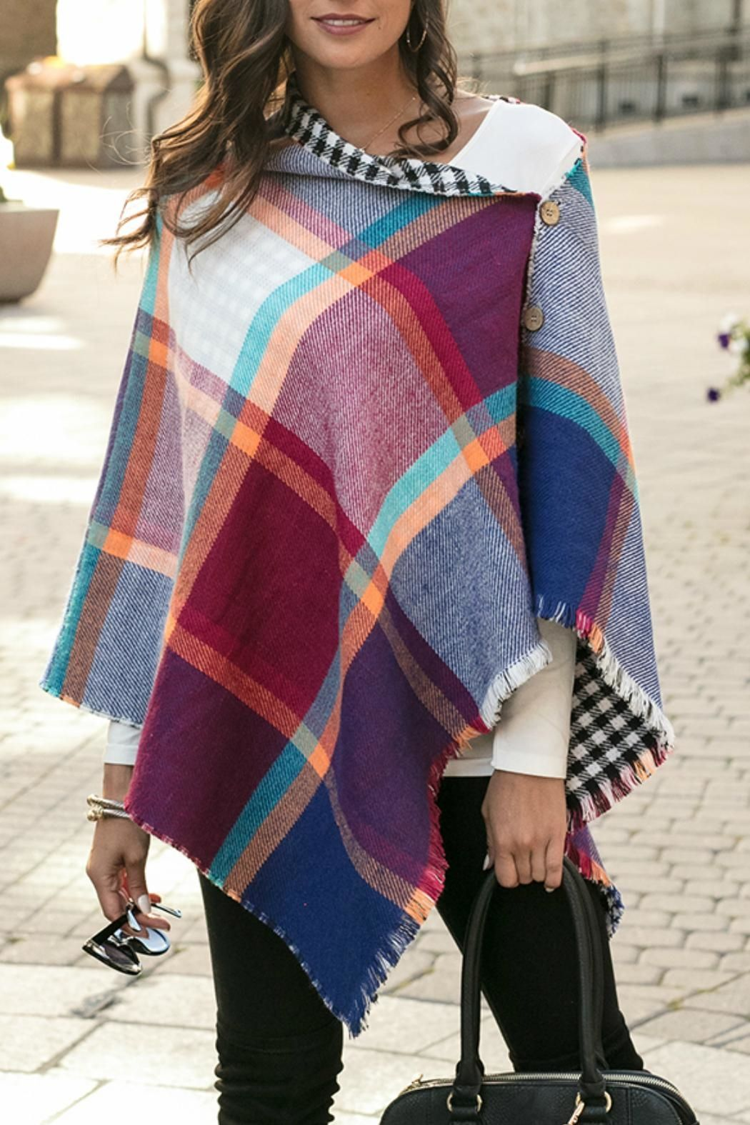 Grace Lace Button Scarf Poncho Diy Blanket Scarf