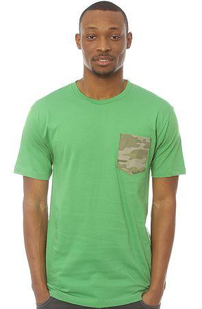 The Camo Pocket Tee in Grass Green XXL S L XL M