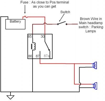 Wiring Auxiliary Lights Electrical Circuit Diagram Automotive Repair Automotive Electrical