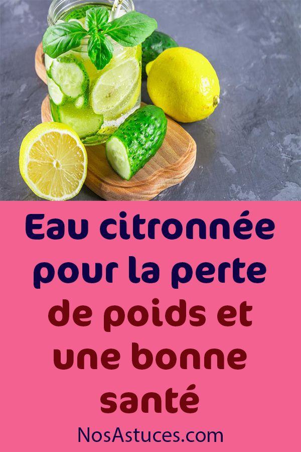 Eau citronnée pour la perte de poids et une bonne santé en