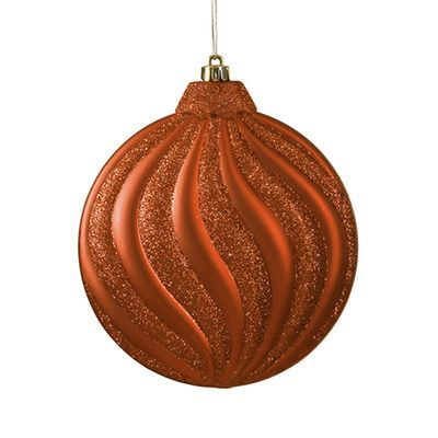 NorthlightSeasonal Swirl Shatterproof Christmas Disc Ornament Color:
