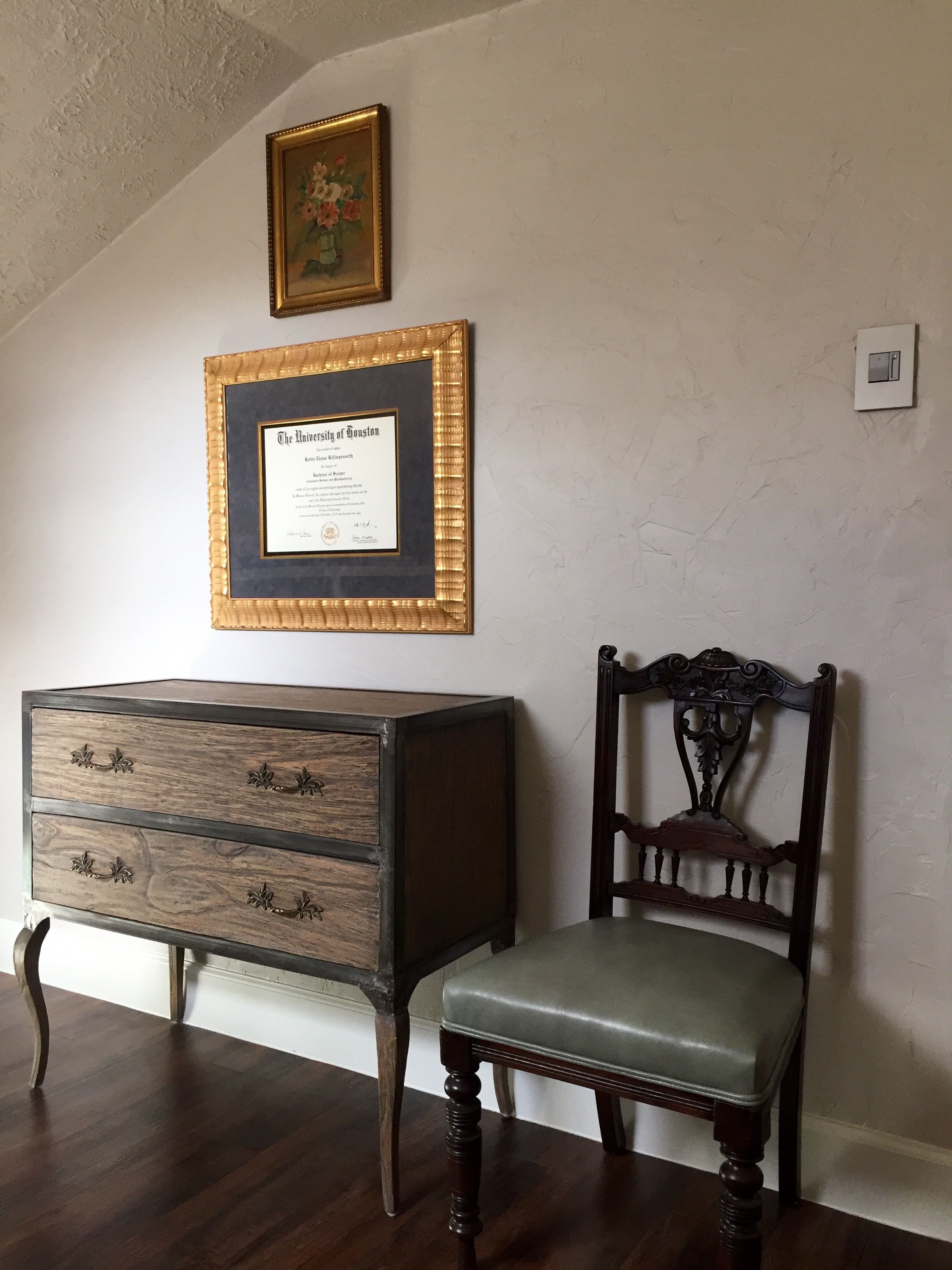 Home office -- credenza. This pretty chest holds all of my ...